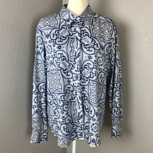 Foxcroft Wrinkle Free Button Down Collared Blouse